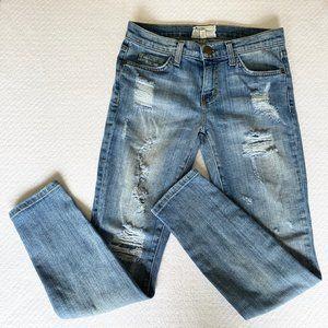 Current/Elliott The Stiletto Shredded Skinny Jeans